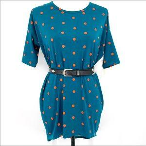 NWT LuLaRoe Irma polka dot high low hem top dress